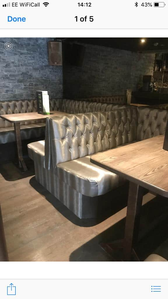 Newlook Upholstery - Bar seating upholstery for a popular chain